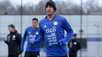 Cecilio Domínguez en entrenamiento con la selección de Paraguay
