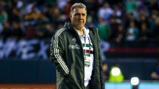 Gerardo Martino en el juego entre el Tri y la selección de Chile