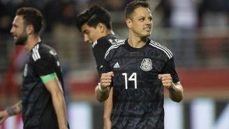 Javier Hernández celebra una anotación con el Tricolor
