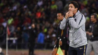Marioni, dirigiendo la Semifinal de Copa ante Juárez