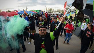 Aficionados de Juárez, previo a un partido