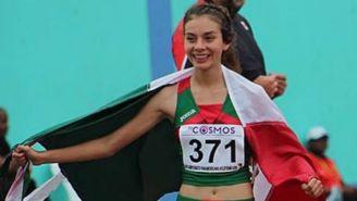 Alegna González al final de una carrera