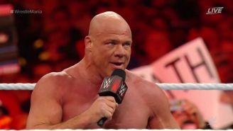 Kurt Angle se despide del público