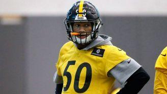 Ryan Shazier, en un entrenamiento de Steelers