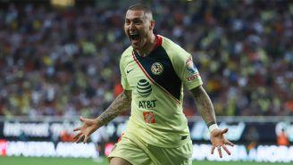 Nicolás Castillo festeja gol con América