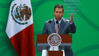 Alfredo Castillo, durante una conferencia de prensa