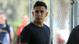 Néstor Calderon, en un entrenamiento de las Chivas