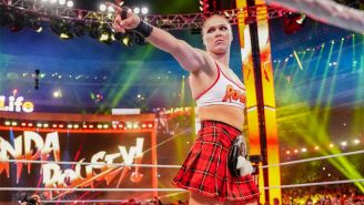 Ronda Rousey antes de la lucha en WrestleMania 35
