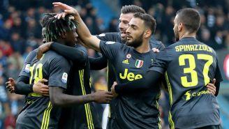 Juventus celebra una anotación frente al Spal