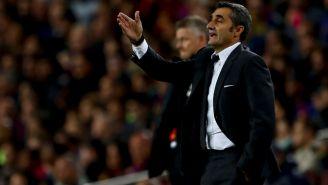 Ernesto Valverde durante un juego del Barcelona