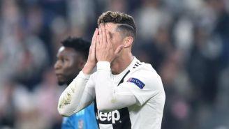 CR7 se lamenta tras la derrota de la Juventus
