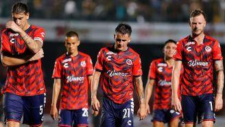 Jugadores de Veracruz después de una derrota