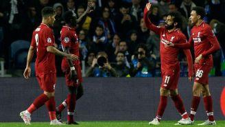 El festejo de uno de los goles de Liverpool