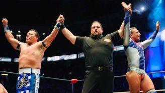 Último Guerrero y Volador Jr. festejan el triunfo