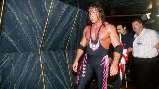 Bret Hart después de la lucha en Montreal