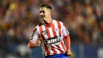 Ian González celebra anotación del Atlético