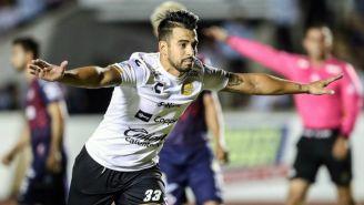 Jesús Escoboza festeja su gol frente a Cimarrones