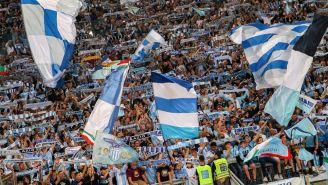 Seguidores de la Lazio durante un partido de la Serie A