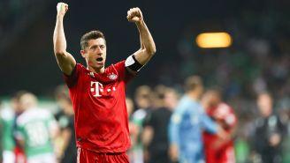 Lewandowski celebra su doblete para darle el triunfo al Bayern