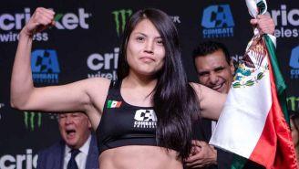 Melissa Martínez en el pesaje de Combate Américas