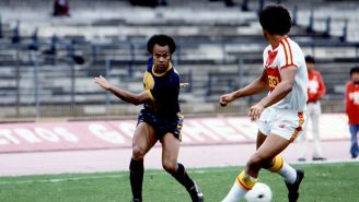 José Muñante en un partido con los Pumas