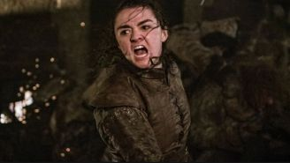Arya Stark durante una escena de Game Of Thrones