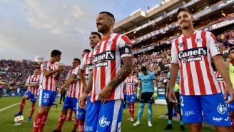 Jugadores del Atlético San Luis en un juego en el Alfonso Lastras