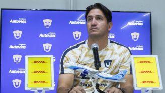 Bruno Marioni, en conferencia de prensa con Pumas