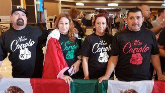 Familia Chávez viajó para apoyar a Canelo