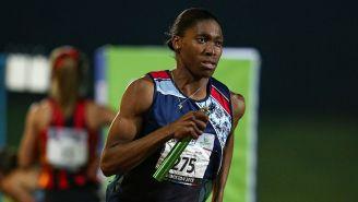 Caster Semenya durante una competencia en Sudáfrica