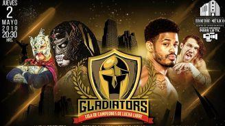 Poster de la lucha de Lucha Brothers en Gladiators