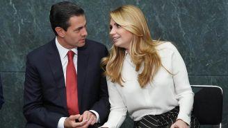 Peña Nieto y Rivera durante un evento