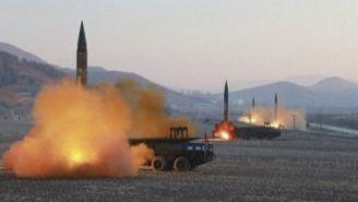 Corea del Norte lanza misiles al mar