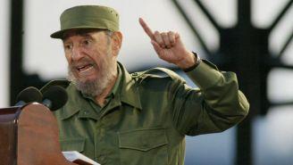 Fidel Castro durante una conferencia