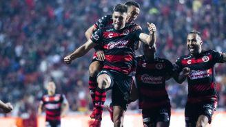 Diego Braghieri festeja anotación contra Puebla