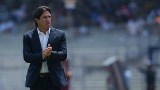 Bruno Marioni en un partido con Pumas