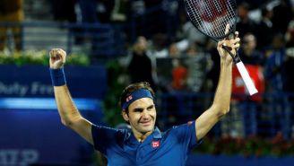 Federer celebra triunfo de un partido