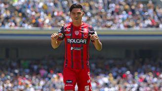 Martín Barragán festeja un gol en CU