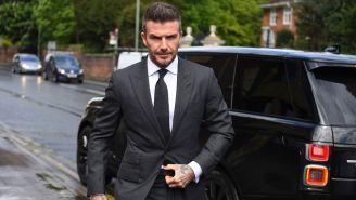 Beckham, llegando a su audiencia en Londres