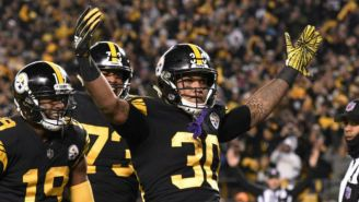 James Conner celebra touchdown