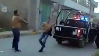 Hombre dispara contra elementos de seguridad pública