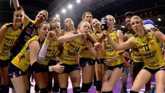 Imoco Volley Conegliano celebra victoria en Liga