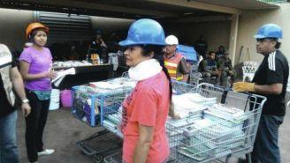 Mónica García Villegas recaba ayuda por lo sucedido en el sismo de septiembre