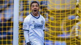 Marco Fabián lanza un grito en un juego con el Philadelphia Union