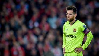 Messi tras la eliminación de Champions