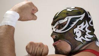Silver King posa enseñando su músculo