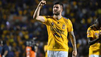 Gignac festeja gol ante Pachuca en los Cuartos de Final del C2019