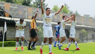 Pumas Sub 17 celebra un gol sobre Monterrey