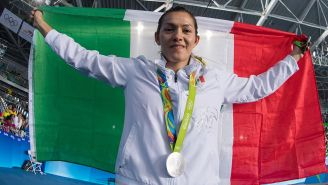 María Espinoza tras ganar medalla en los Olímpicos de Río
