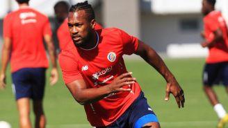 Kendal Waston, en un entrenamiento con la Selección de Costa Rica